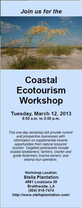 CoastalEcotourismWorkshop